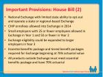 important provisions house bill 2