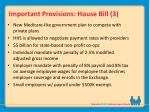 important provisions house bill 3