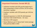 important provisions senate bill 2