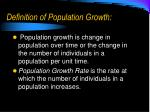 definition of population growth