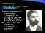 william catton creator of the catton theory