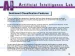 sentiment classification features