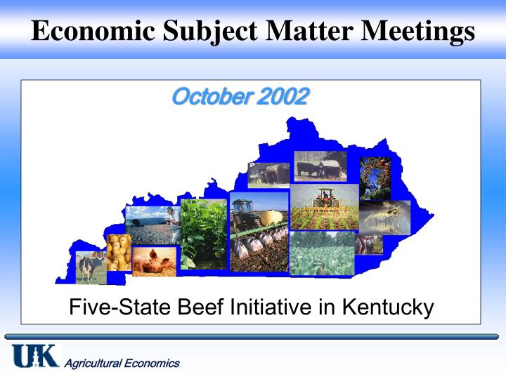 economic subject matter meetings n.