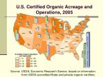 u s certified organic acreage and operations 2005