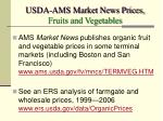 usda ams market news prices fruits and vegetables