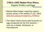 usda ams market news prices organic poultry and eggs