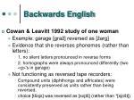 backwards english