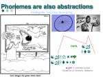 phonemes are also abstractions