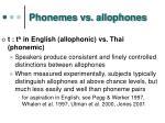phonemes vs allophones