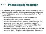 phonological mediation