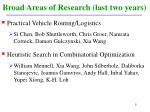 broad areas of research last two years