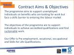 contract aims objectives