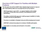 overview of esf support for families with multiple problems