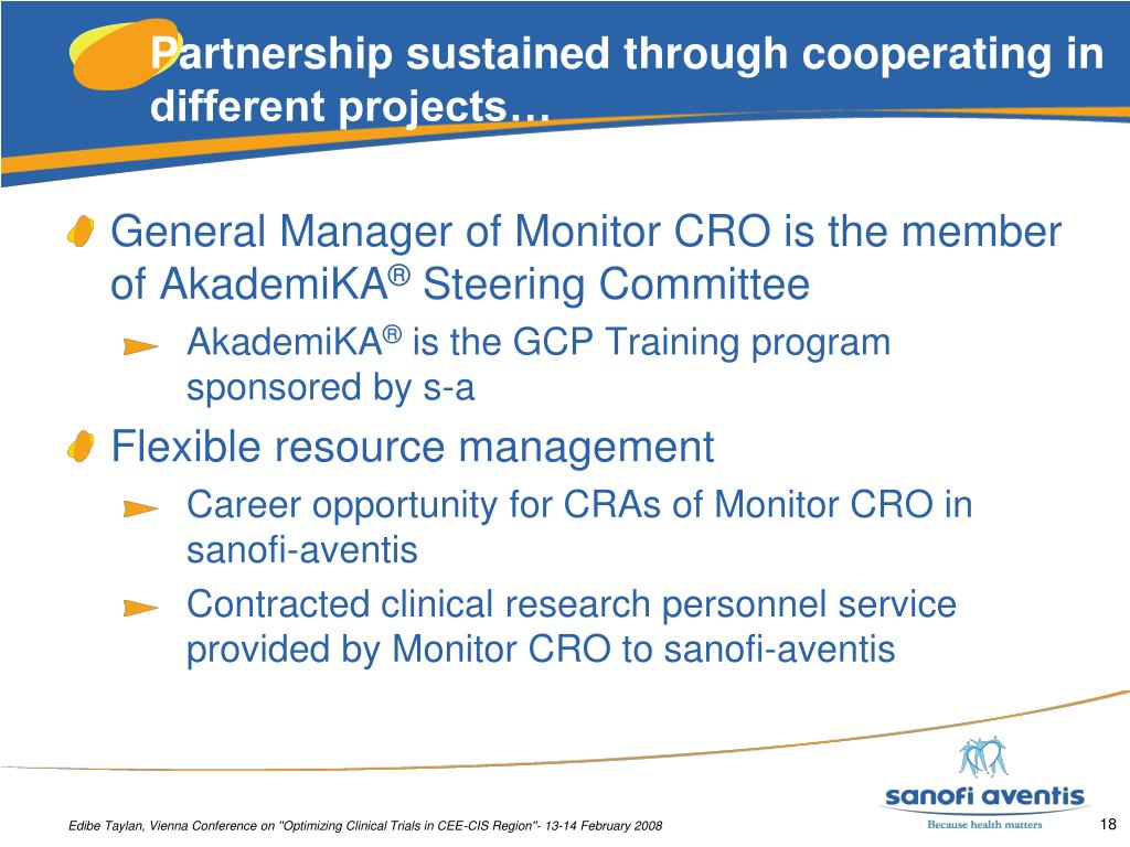 Partnership sustained through cooperating in different projects…