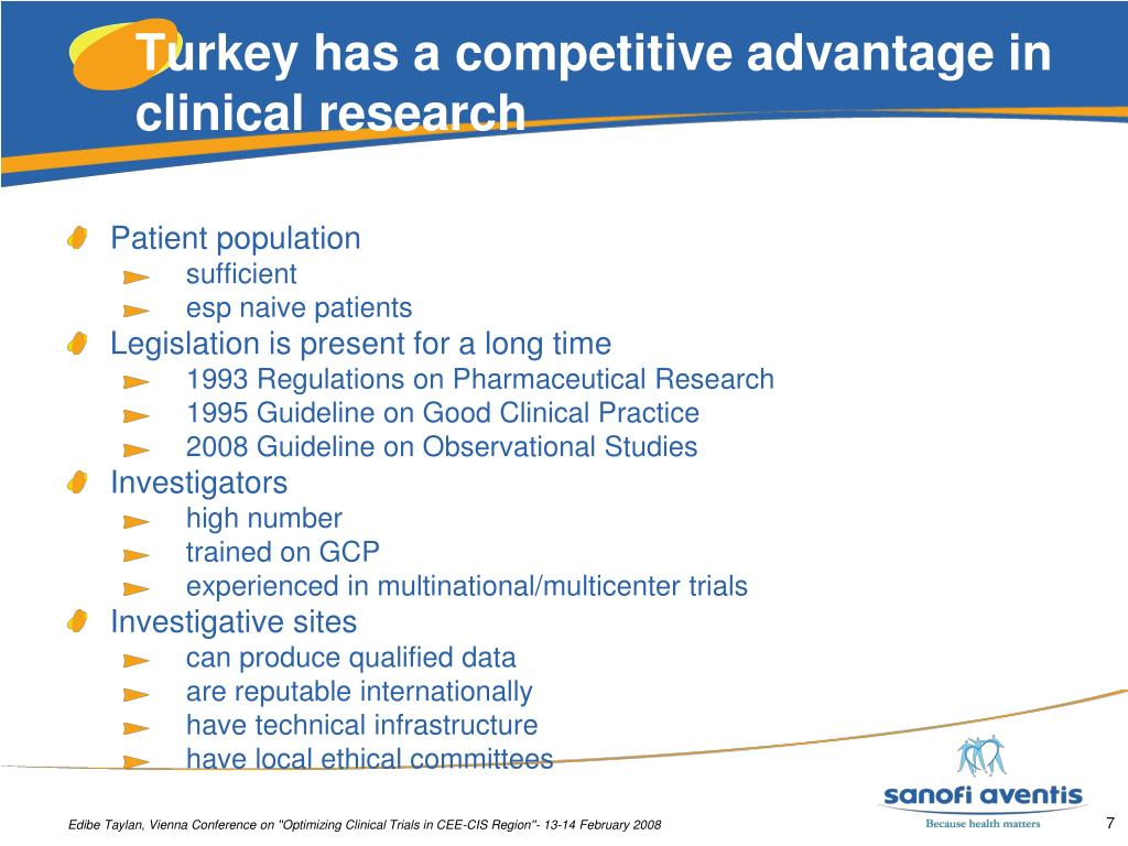 Turkey has a competitive advantage in clinical research