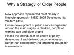 why a strategy for older people1