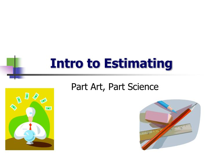 intro to estimating n.