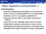 major legislative achievements 39