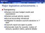 major legislative achievements 5