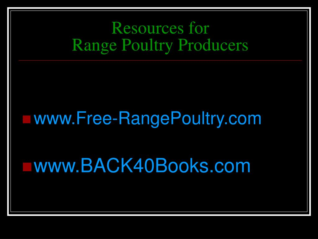 Resources for