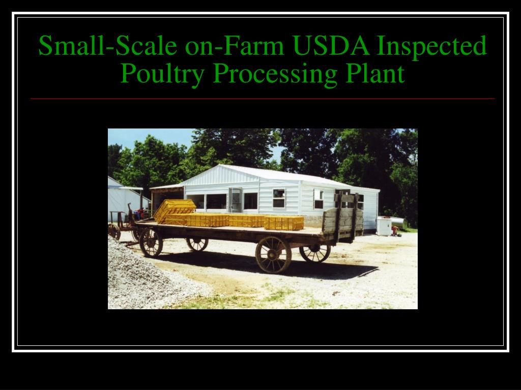 Small-Scale on-Farm USDA Inspected