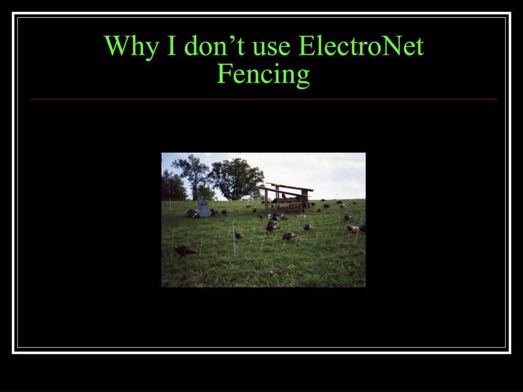 Why I don't use ElectroNet