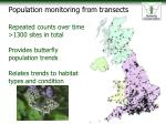 population monitoring from transects