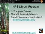 nps library program23