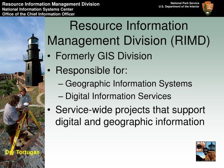 Resource information management division rimd