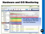 hardware and o s monitoring