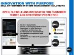 innovation with purpose dell enterprise systems management solutions