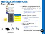 modular architecture grows with you