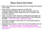 macro view of the project