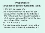 properties of probability density functions pdfs