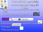paradisec gratefully acknowledges support from