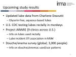 upcoming study results