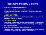 identifying industry clusters