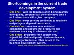 shortcomings in the current trade development system