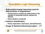 description logic reasoning