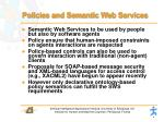 policies and semantic web services