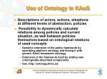 use of ontology in kaos