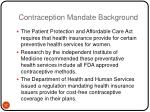 contraception mandate background