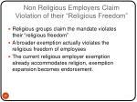 non religious employers claim violation of their religious freedom