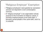 religious employer exemption