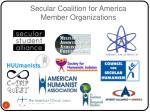 secular coalition for america member organizations