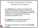 secular coalition for america mission and purpose