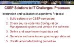 csep solutions to it challenges processes33