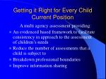 getting it right for every child current position