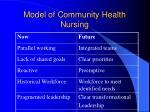 model of community health nursing