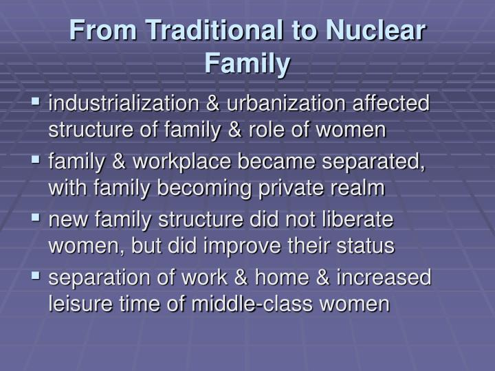 From Traditional to Nuclear Family